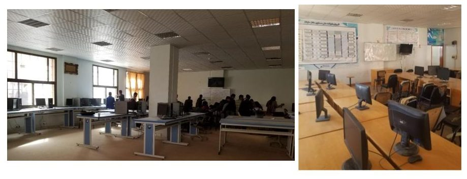 photo of computer lab at a Yemen university that does not have electricity